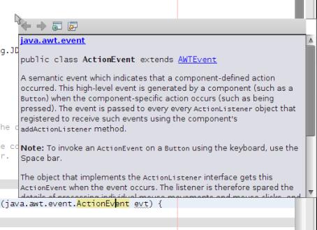 javadoc yang ditampilkan dengan menekan Ctrl+Shift+Space