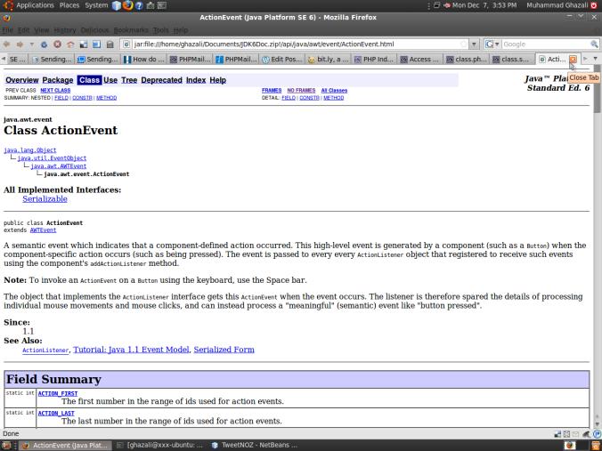 Javadoc pada web browser