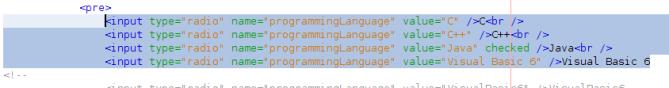Source pilihan tersebut pada halaman HTML