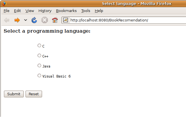 Halaman HTML Untuk Memilih Bahasa