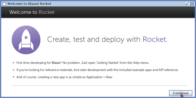 Screenshot - Welcome to Blaast Rocket