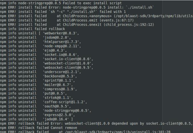 node-stringprep failed to exec script