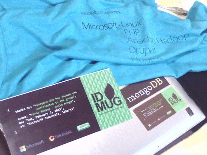 Goodies from Indonesia MongoDB User Group: First Meetup (Hello Mongo)