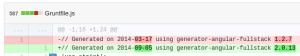 diff: Gruntfile.js antara kode yang lama dan yang baru